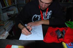 filippo biagioli lucca comics 2011 colora tecla