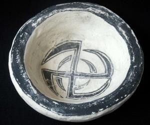 filippo biagioli terracotta ritual pottery bowl analphabetic art