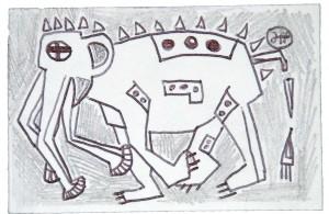 biagioli filippo disegno analphabetic art lapis biro penna drawing ink