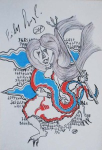 filippo biagioli autografo cartolina poster analphabetic art