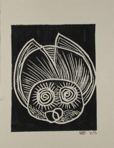 pulce 21x16,5 2012 filippo biagioli adigrafia su cartone vegetale copia 7 di 9