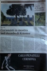 La Stampa Liguria Museo sul territorio delle opere di Filippo Biagioli