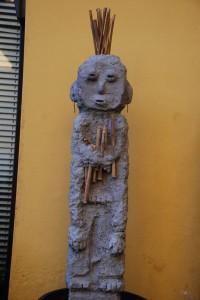 Insettario 76x15x10 2013 cemento bamboo ferro arte tribale contemporanea arte tribale europea european tribl art contemporary tribal art filippo biagioli