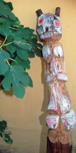 filippo biagioli palo da guardia incenso spirit figure european tribal art