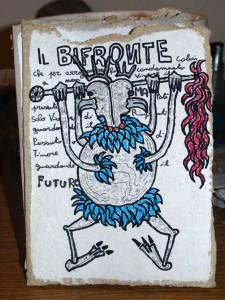 filippo biagioli disegno demone bifronte carta rituale handmade