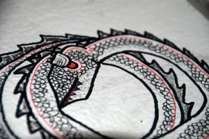 filippo biagioli spirit figure for hand made ritual book snake
