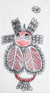 filippo biagioli santino 9x5 2014 tecnica mista su carta spessa 15