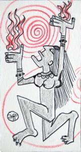 filippo biagioli santino 9x5 2014 tecnica mista su carta spessa 16