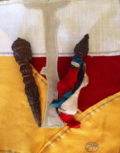 Nepal agosto 2014 phurba e stoffa rituale filippo biagioli