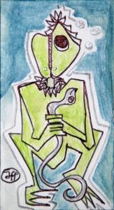 santino 9x5 2014 tecnica mista su carta spessa 25