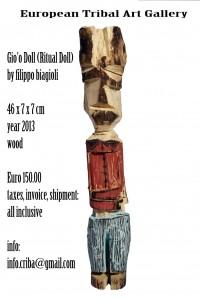 gio'o doll european tribal art gallery filippo biagioli