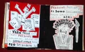 La Frustrazione dell Artista 12,5x11x1,5 2015 libro fatto a mano fronte