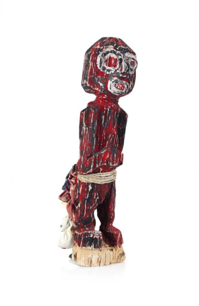 filippo biagioli reliquiario scultura in legno dipinto e stoffa con preghiera e chiodi d'esorcismo asta 2324 lotto 51 meeting art