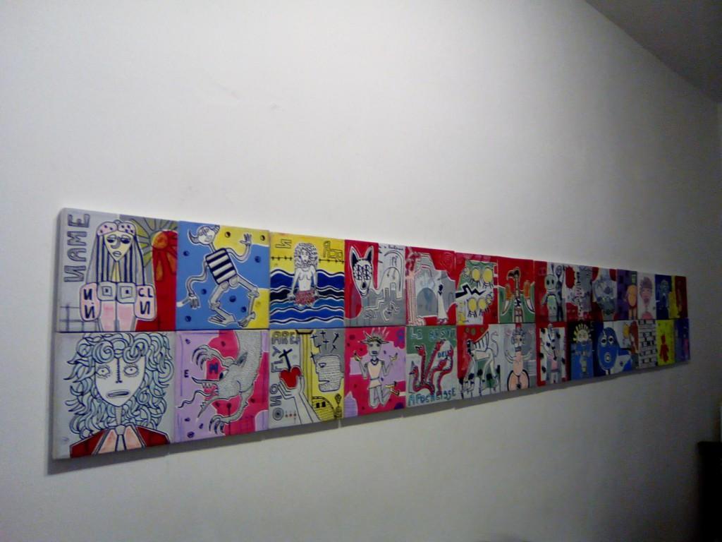filippo biagioli tra stupore e innovazione personale galleria viadeimercati vercelli arte tribale contemporanea dipinti su tela