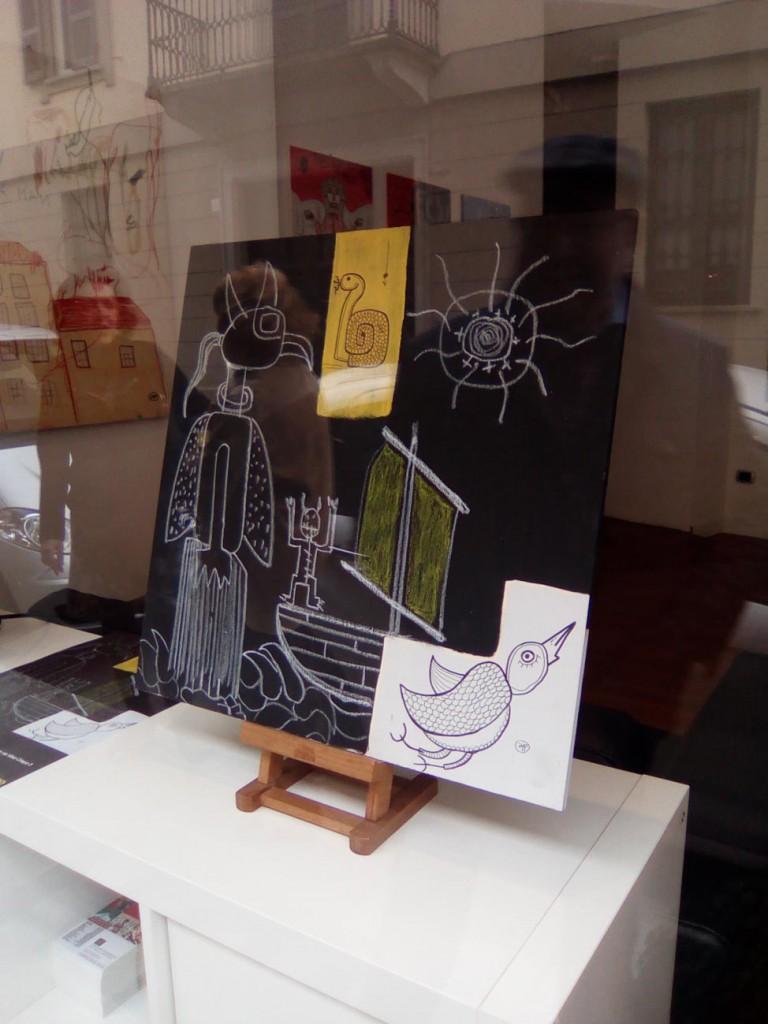 filippo biagioli tra stupore e innovazione personale galleria viadeimercati vercelli arte tribale contemporanea tavola dipinta