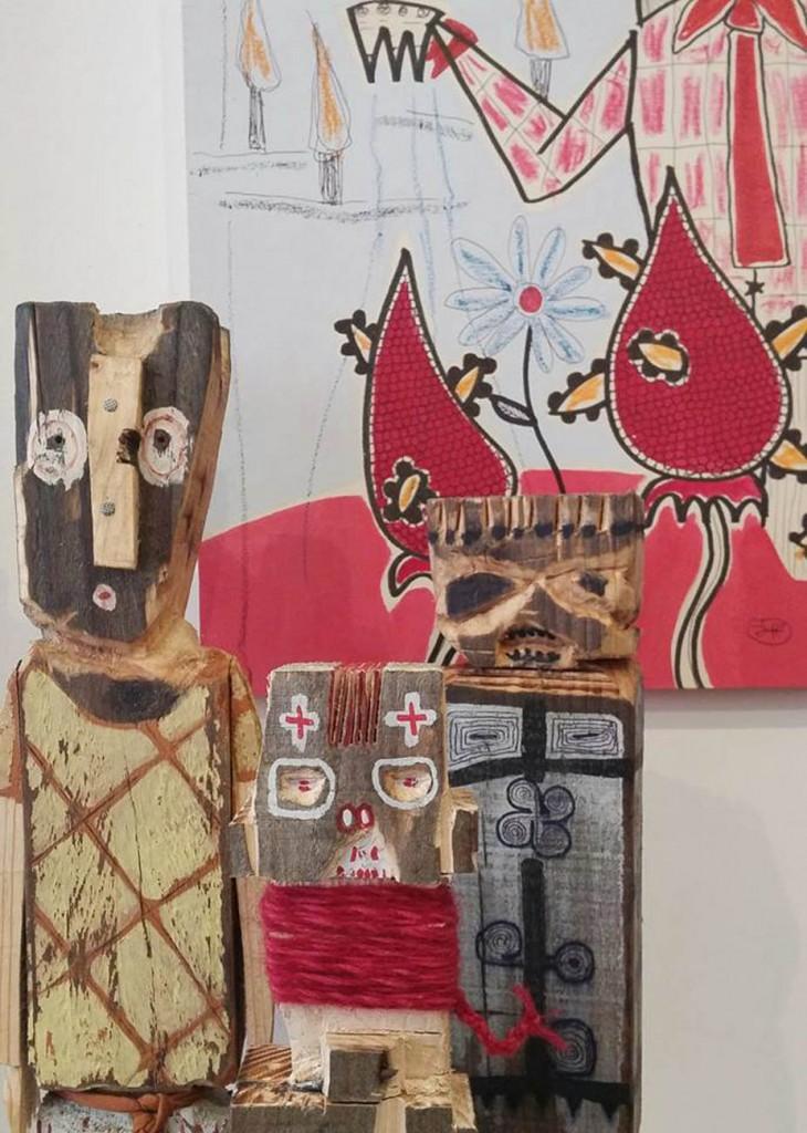 gio'o doll e dipinti filippo biagioli tra stupore e innovazione personale galleria viadeimercati vercelli arte tribale contemporanea