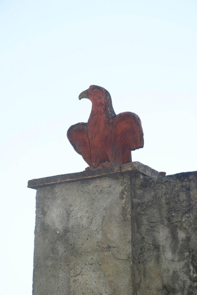 Falco scolpito Per Giorgio arte internazionale a Massa pt