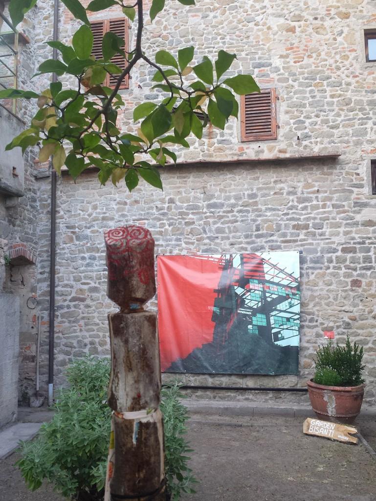 Filippo Biagioli e Angela Galli giadino Per Giorgio arte internazionale a Massa pt
