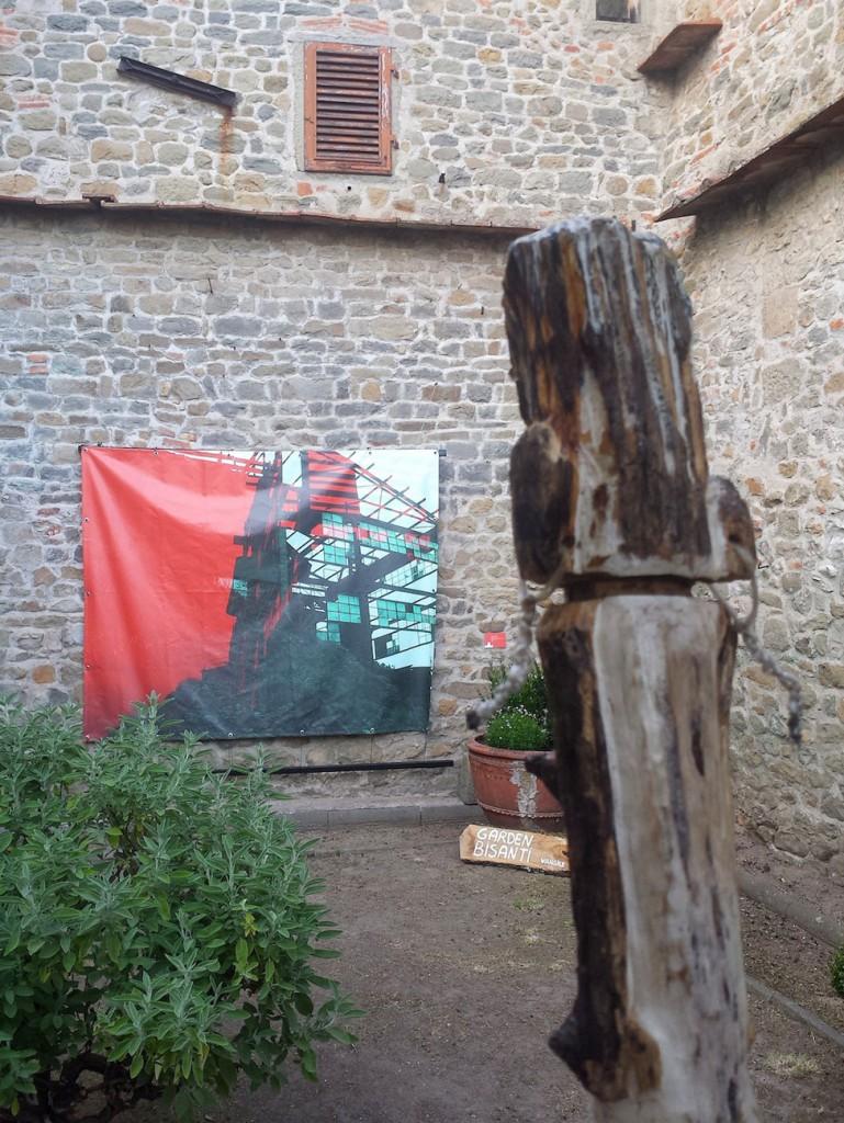 Filippo Biagioli e Angela Galli particolare Per Giorgio arte internazionale a Massa pt 4