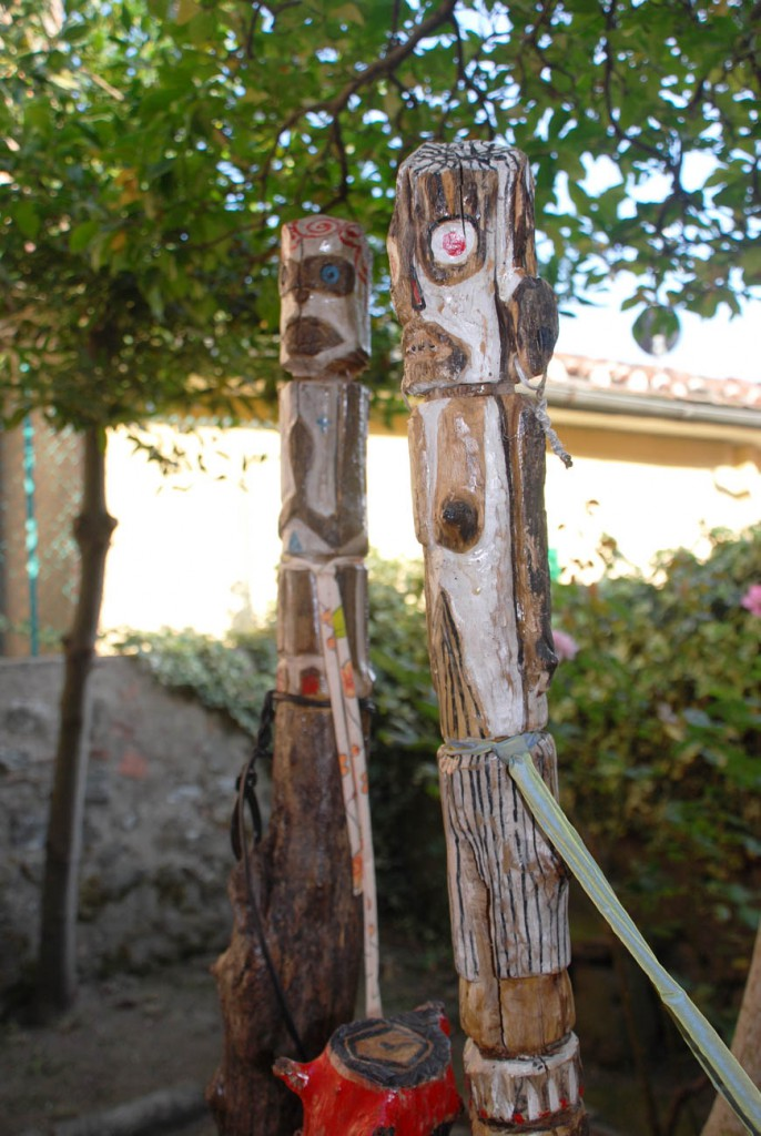 Filippo Biagioli sculture legno giardino Per Giorgio arte internazionale a Massa pt