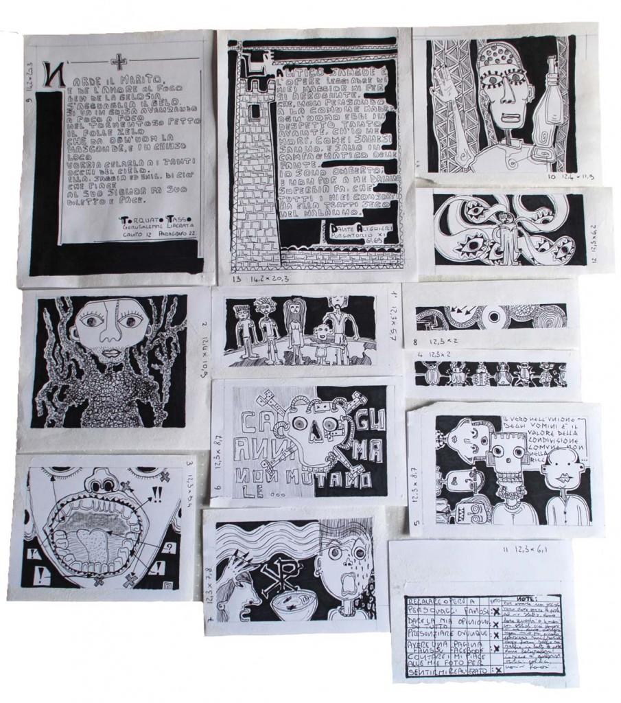 filippo biagioli disegni SCARAFAGGI