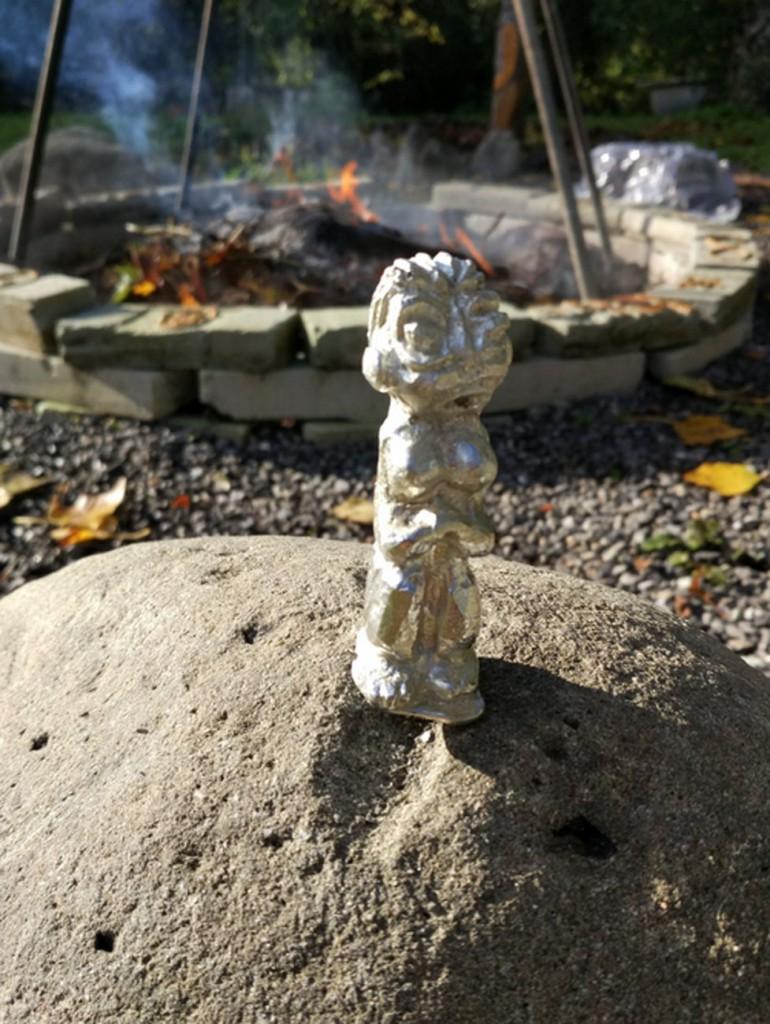 filippo biagioli piccolo idolo in lega alchemica