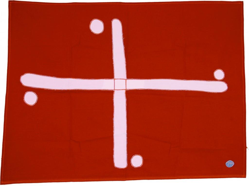 Croce 72x96 2010 stoffa rituale