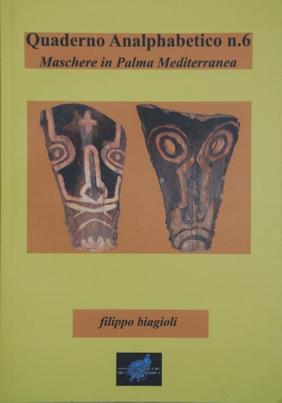 quaderno analphabetico n 6 maschere in palma filippo biagioli