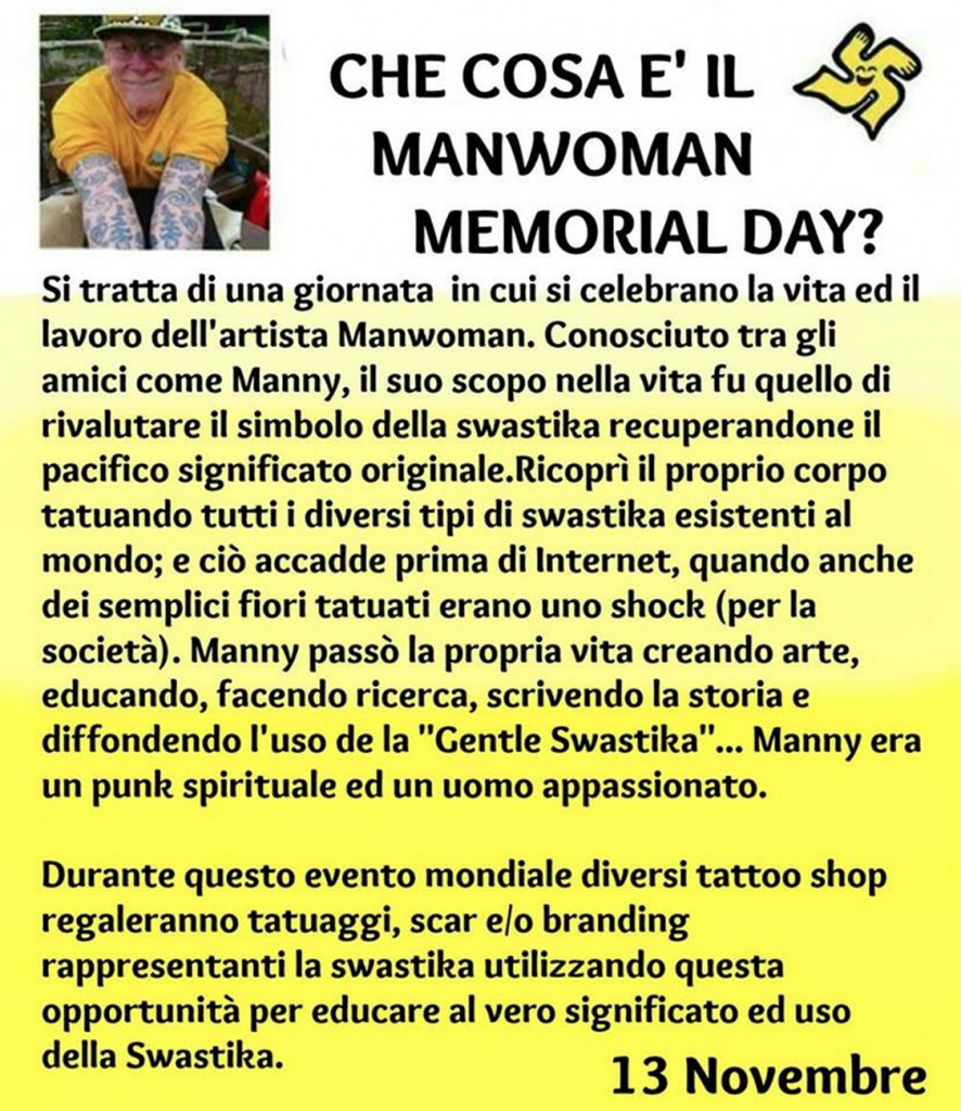 ManWoman memorial day swastika blog manny