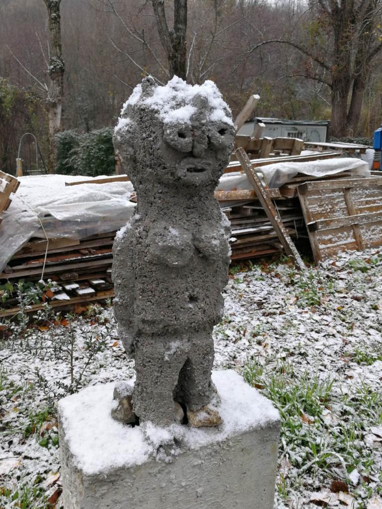 filippo biagioli guardian figure snow