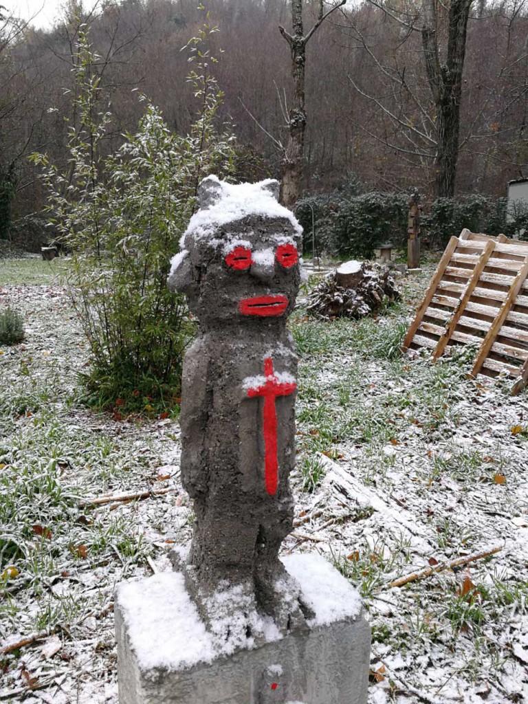 filippo biagioli guardian figure snow cross