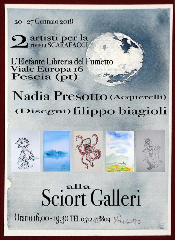 Locandina web Nadia presotto filippo biagioli Sciort Galleri