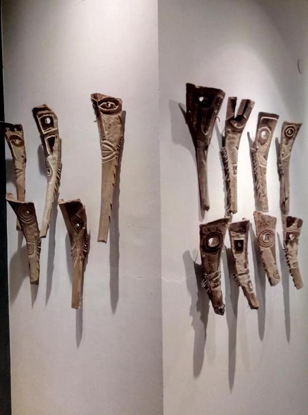 filippo biagioli maschera in legno di palma mediterranea mostra onzo 2