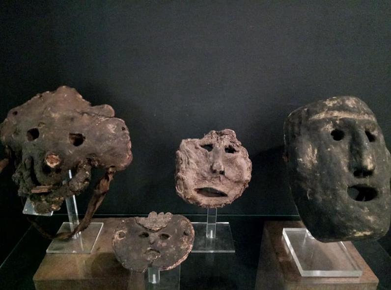 maschere nepalesi fungus mostra onzo