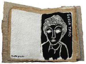 La Parte Femminile 17x12,5x1,2 2019 Libro fatto a mano su Gerda Taro 1