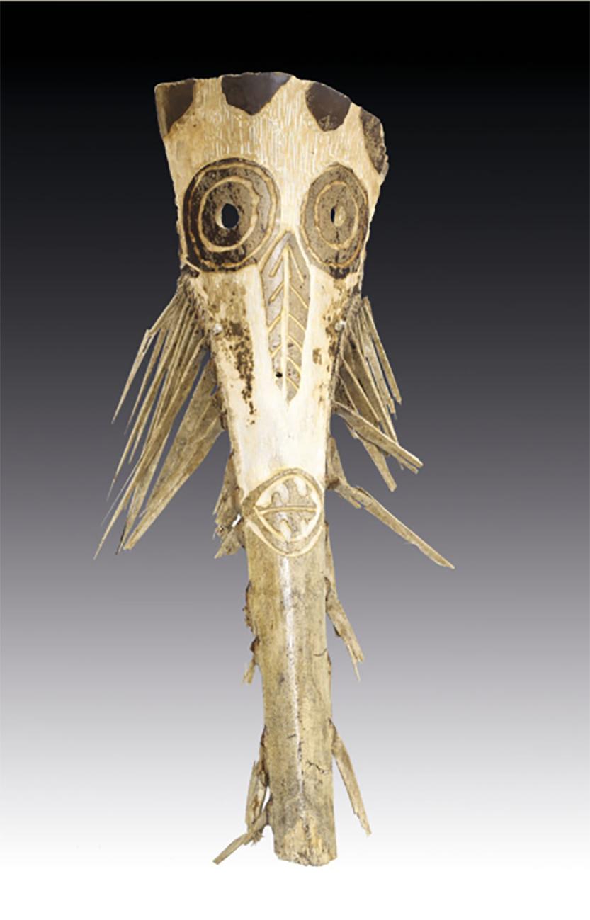 Maschera in legno di palma mediterranea, in asta presso Meeting Art