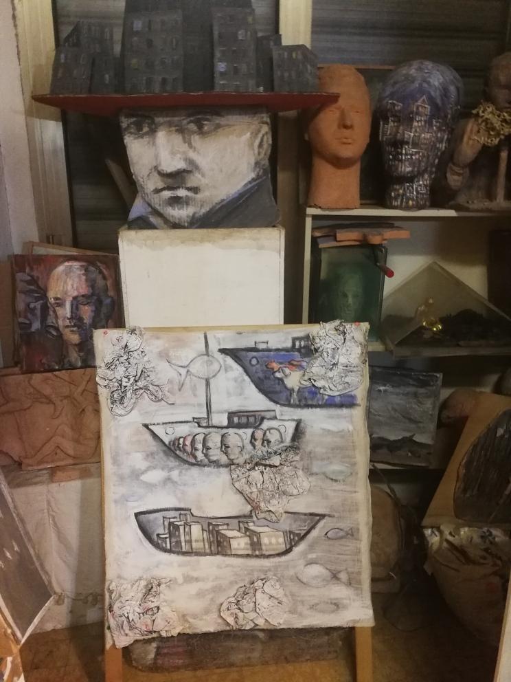 Visita allo studio di Paolo Beneforti e Silvia Beneforti 11