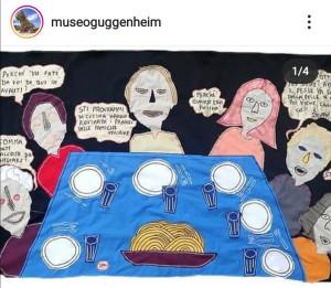 filippo biagioli stoffa su guggenheim museum bilbao instagram