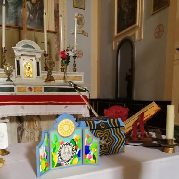 Cofanetto di Santa Lucia in una chiesa del nord Toscana