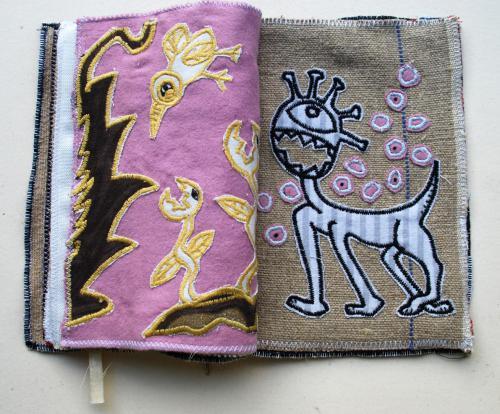 filippo biagioli libro stoffa fatto a mano handmade fabric book dog