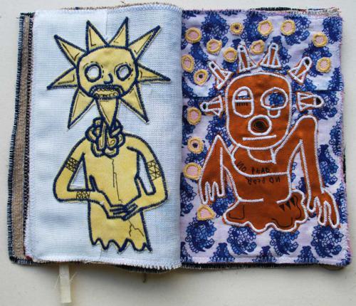 filippo biagioli libro stoffa fatto a mano handmade fabric book witch